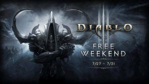 Diablo III: Reaper of Souls Free Weekend with Xbox Live Gold - Geek News Central All Xbox Live Gold members can enjoy Blizzard EntertainmentsDiablo III: Reaper of Souls  The Ultimate Evil Edition for free as part of Xbox Live Gold Free Play Days. In order to take advantage of this offer you must be an Xbox Live Gold member.  Its being called a Free Weekend but the offer actually lasts a total of 5 days. It started on Thursday July 27 2017 and will continue through Monday July 31 2017 at…