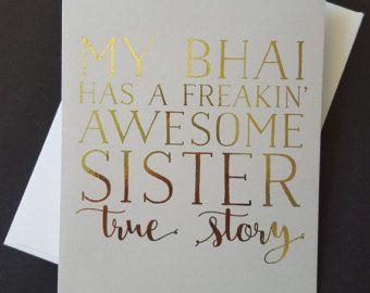 Indian Raksha Bandhan Greeting Card Printable by KiwiAndBacon