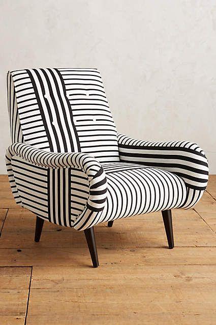 #stripes on stripes <3 Striped Losange Chair - anthropologie.com
