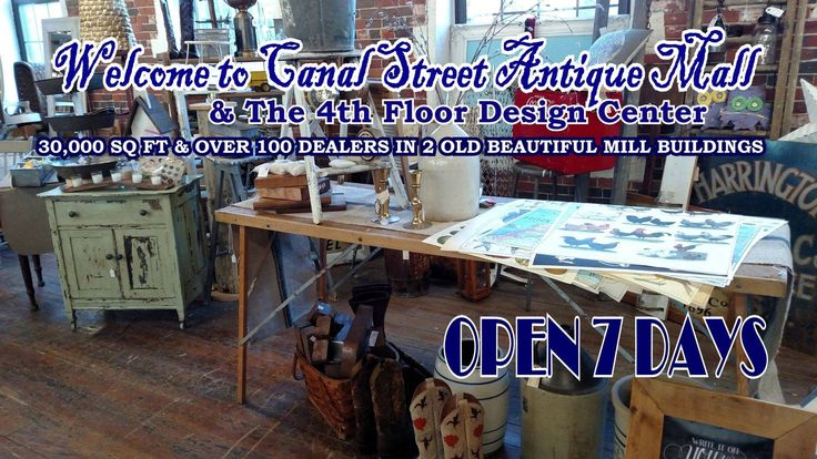 One of the Boston areas largest and BEST old mill Antique Malls,  over 75 vendors in 28,000 sq. ft of  Antiques, Collectibles, Primitives, Industrial, Mid-Century Modern, Country, Shore & Lodge Decor, Hardware & Tools, Jewelry, Chalk Paint & Glassware