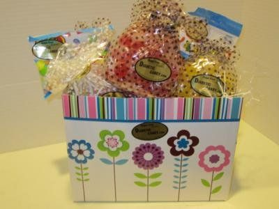34 best gift baskets images on pinterest gift ideas basket and diabetic candy spring gift basket sugar free blast gifts negle Images