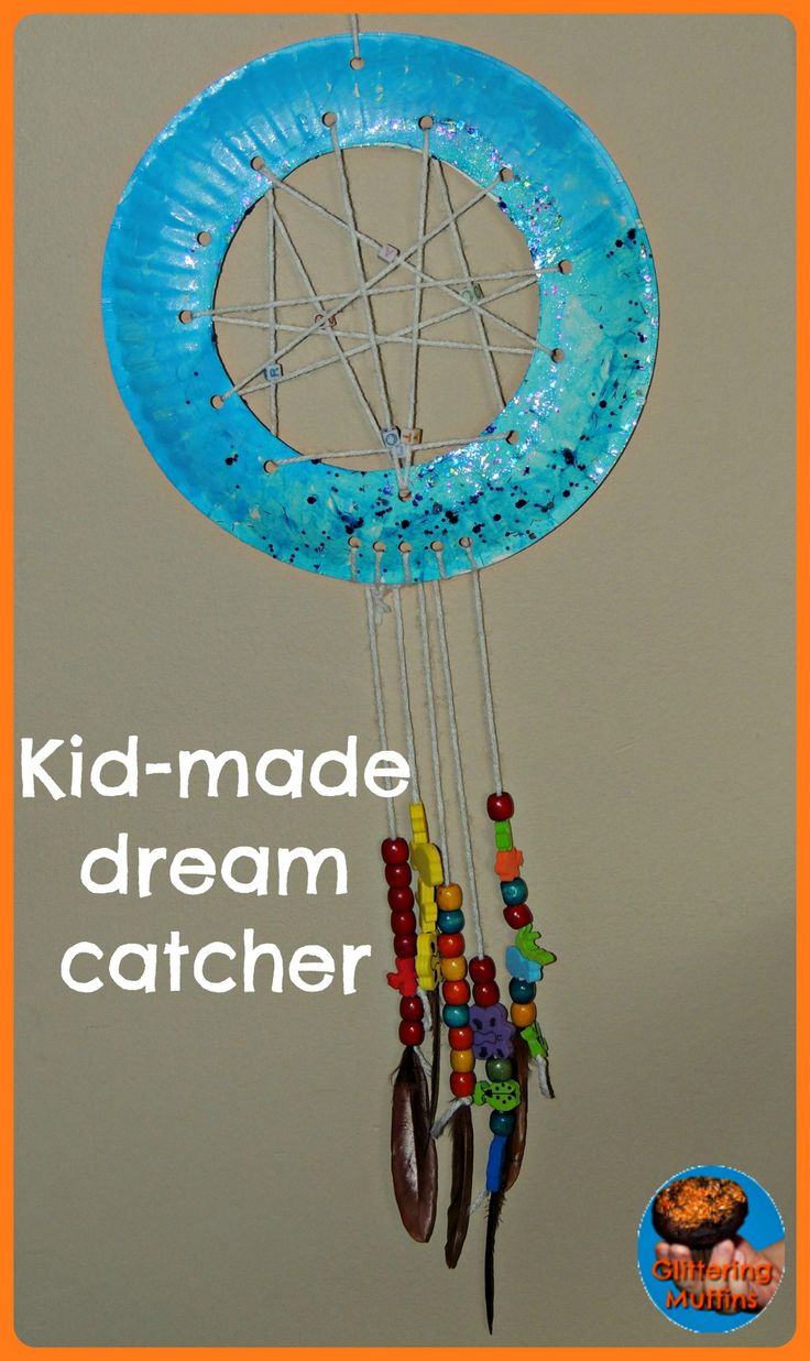 Kidmade dream catcher for the kids Pinterest