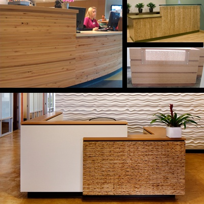 Reception Countertop Materials : Kirei Design Materials make great reception desks. Which one would you ...