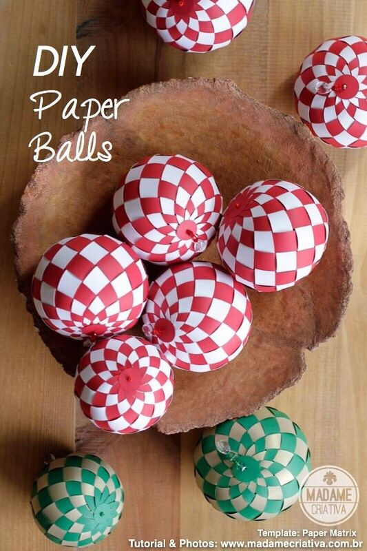 DIY Paper Balls With Template.