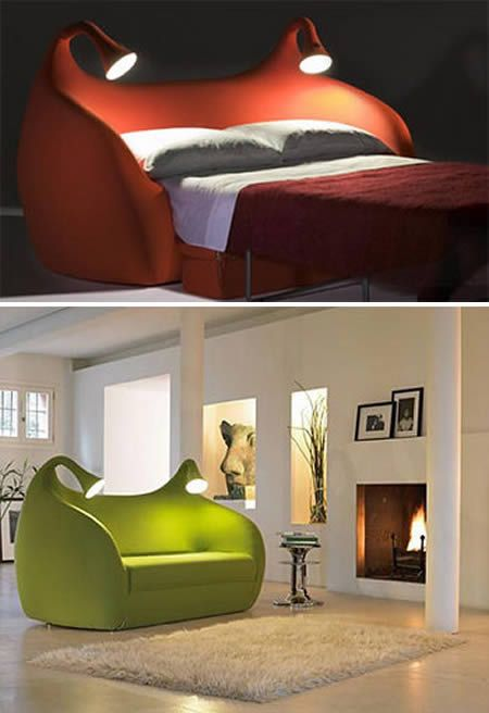 In My Dreams, Creative Beds, Small Room, Small Living Room, Cool Beds, Spare Room, Kids Libraries, Science Fiction, Sofas Beds