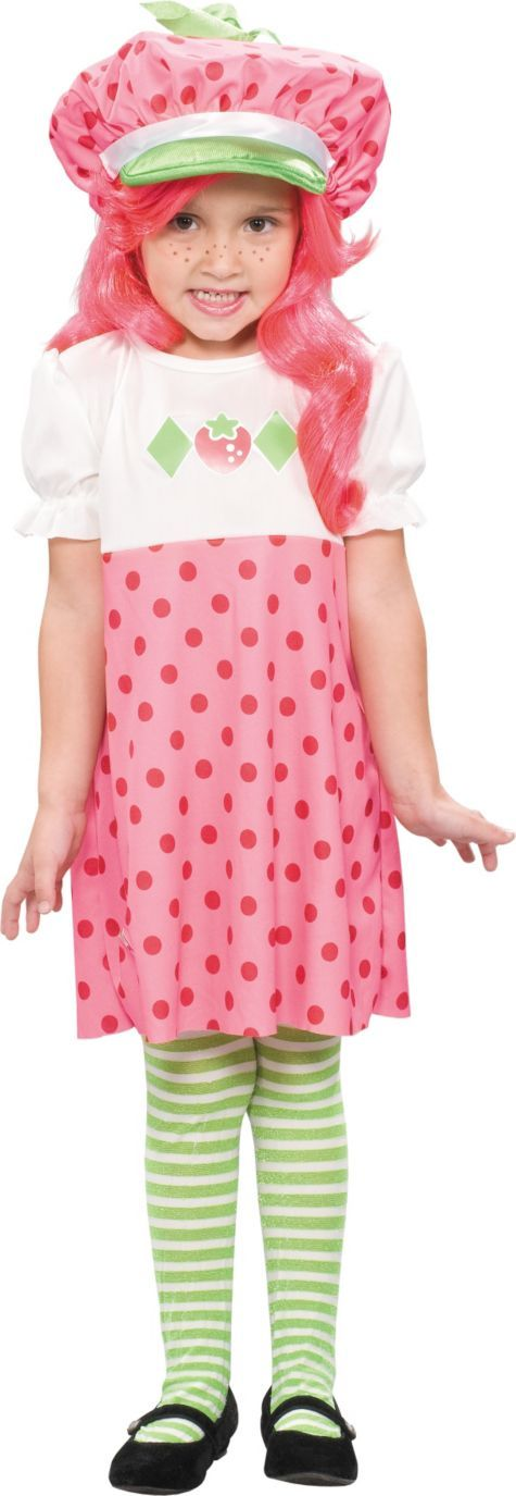 hannahs costume wig and all toddler girls classic strawberry shortcake costume party city - All Halloween Costumes Party City