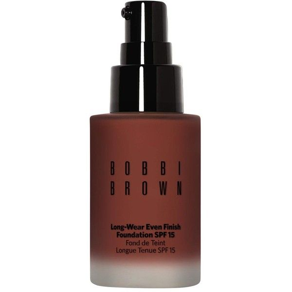 Bobbi Brown Long-Wear Even Finish Foundation SPF15 30ml ($45) ❤ liked on Polyvore featuring beauty products, makeup, face makeup, foundation, spf foundation, oil free foundation, long wearing foundation, hydrating foundation and moisturizing foundation