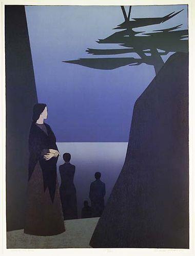 Will Barnet (USA, 1911-2012) - Way to the Sea, 1981