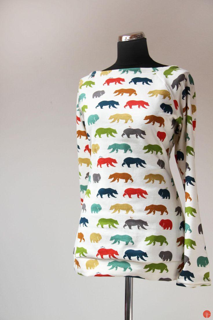 Handamde sewed women's jacket made from organic cotton Birch fabrics