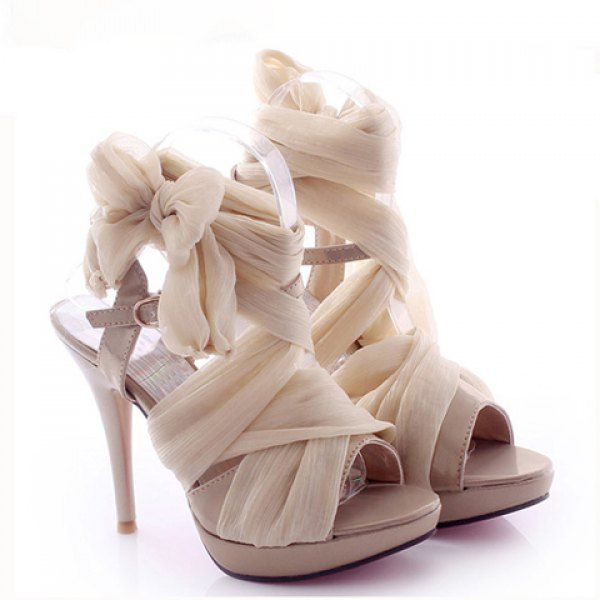 Party Silk and Stiletto Heel Design Women's Summer Sandals