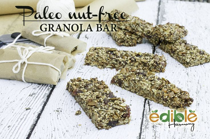 For this Paleo Granola Bar, I used only seeds, but you can easily replace the pumpkin, sunflower, and/or sesame seeds for your favorite chopped nut.