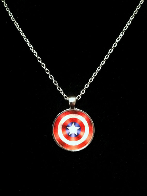captain america shield necklace or keychain by