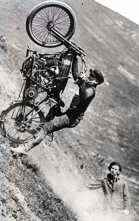 Vintage Hill Climb. Question is, how big a set would you need to hit this hill on a modern bike, let alone vintage iron?