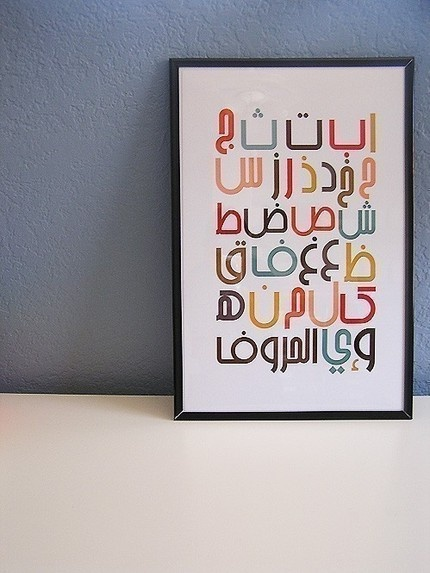 Arabic Alphabet-Here again, you just never know. Although, a sampler different alphabets WOULD be interesting.