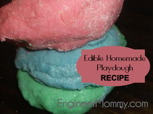 What about this homemade recipe for playdough? It's actually edible, so it's safe for even the littlest ones!