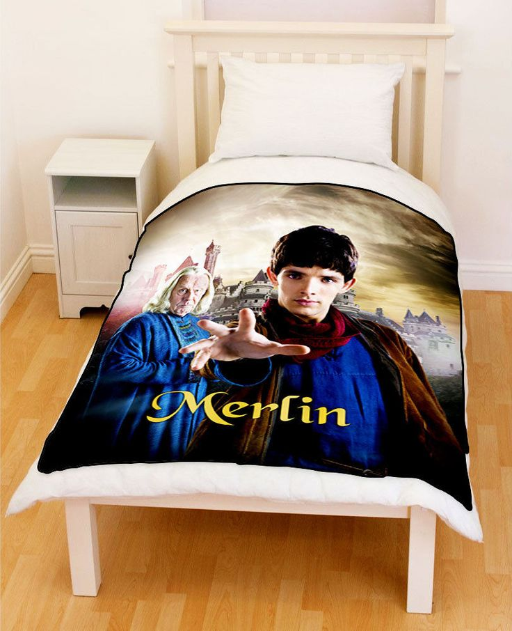 Merlin Colin Morgan Fleece Throw Blanket // Price: $51.99  //     #tagsforlikes