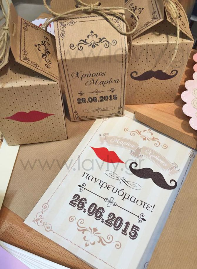 wedding invitation and favor boxes