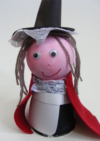 Welsh lady craft - cup and ball Welsh lady in traditional dress addtoethic