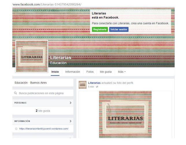 Literarias está en Facebook | LITERARIAS | Por Gabriela Mariel Arias