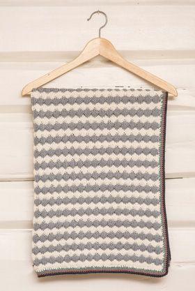 Strikkeopskrift, strikket babytæppe