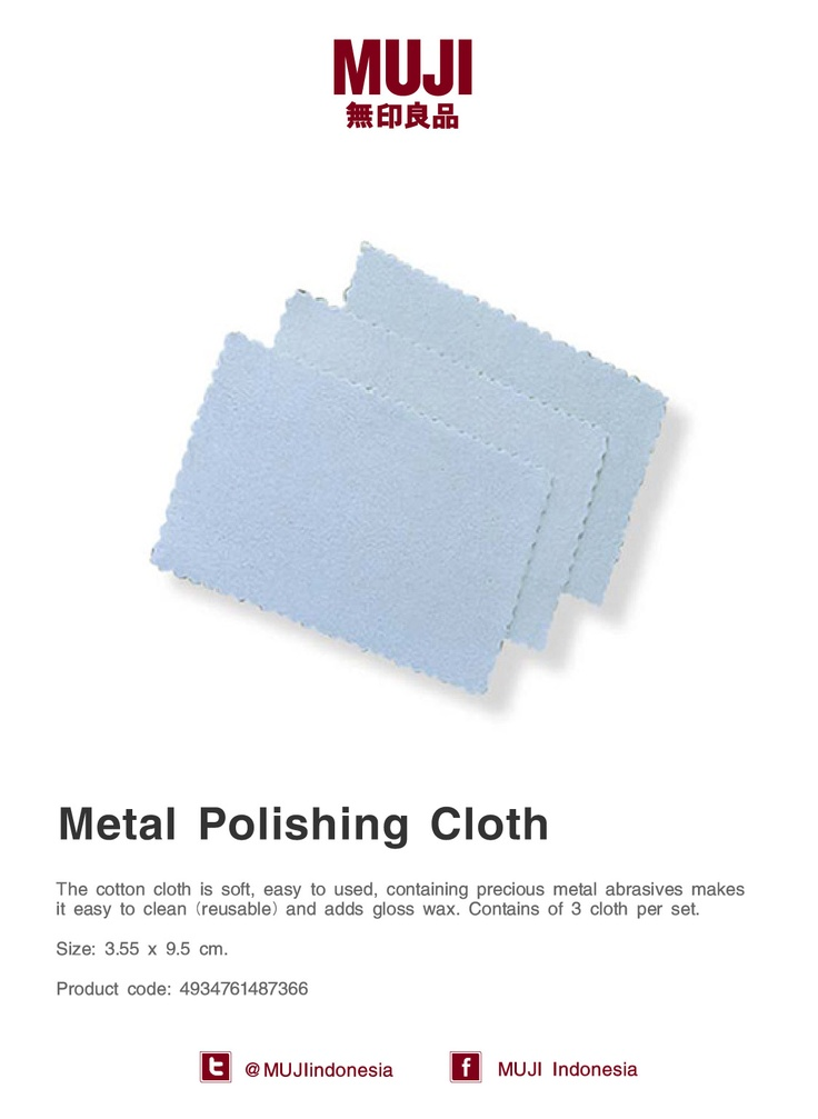 [Metal Polishing Cloth] The cotton cloth is soft, easy to used, easy to clean and adds gloss wax. 3 cloth per set.