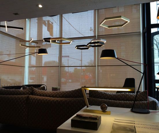 Hex Pendants used in Klaus showroom _ Resident
