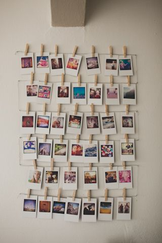 25 best ideas about polaroid wall on pinterest polaroid for Cute picture hanging ideas