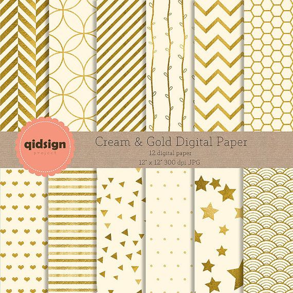 Hey, I found this really awesome Etsy listing at https://www.etsy.com/listing/242869802/cream-gold-digital-paper-chevron-stripes