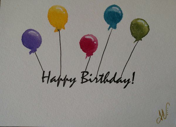 "Hand-Painted Greeting Card - ""Happy Birthday!"""