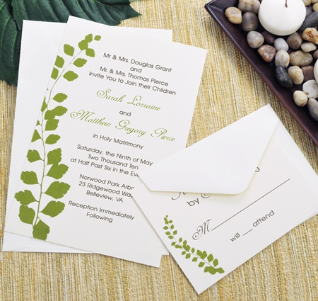 Botanical Green DIY Wedding Invitation Kits | DIY Wedding Invitation Kits