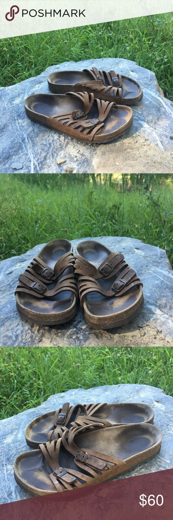 Birkenstock Granada Size 39 Good condition! One of the strap holes is a bit stretched out, hardly noticeable and can be fixed by punching a new hole in the strap - super comfy and great for summer or with socks in the fall 🤗 Birkenstock Shoes Sandals