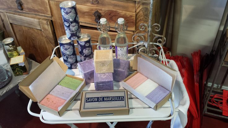 Marian's natural French soap selection. Savon De Marseilles............Wow !!!!!