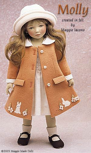 Molly16.5 Inch Tall Felt DollEdition Size: 70Created in 2000