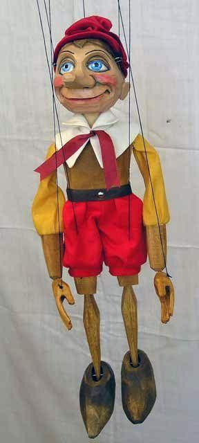 Designer puppets. Each doll marionette is designer work handmade by a Czech artist!