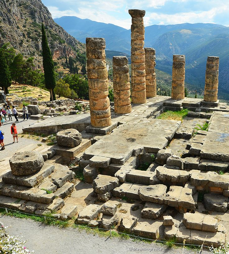 """Explore Delphi - Delphi, known as the """"earth's navel"""", lies on the southern slopes of Parnassos Mount. It is one of the most important and rich, in archaeological finds, sites of Greece. Today, the archaeological site of Delphi is characterized as a UNESCO world heritage site #dreamingreece #greece #travel #travelguide #vacation #holidays #destination  #greekbeaches #photography #delphi #unesco"""