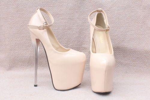 Женский супер-высокий каблук туфли на платформе сексуальные ботинки, сандалии, US3.5-11 (EU34-43) usyz 60
