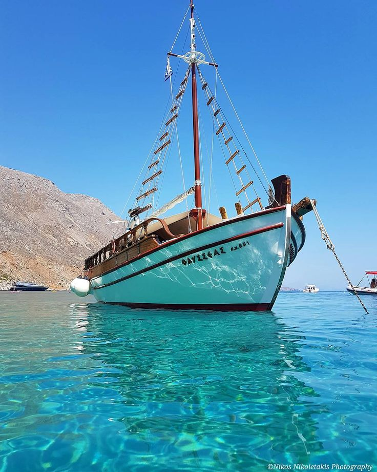 "Chania: The amazing crystal clear waters in the picturesque ""Loutro"". I miss those days... Happy weekend!"