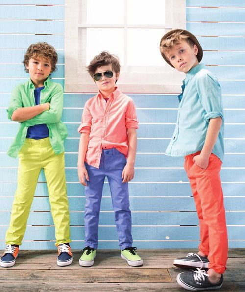 bright colors on boys are so stylish. love these color combinations #crewcuts