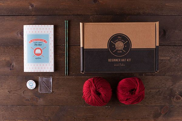 Learn to Knit Club, Level 3: Hat - Red  *Afflink*