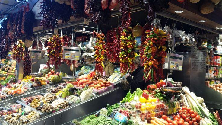 The new Fruites Soley Roser stall at Mercat de la Boqueria in Barcelona