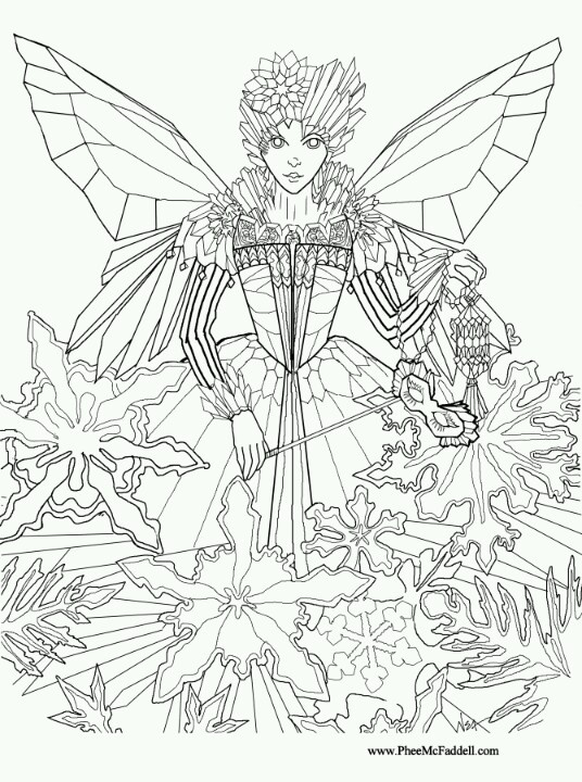 christmas fairy coloring pages