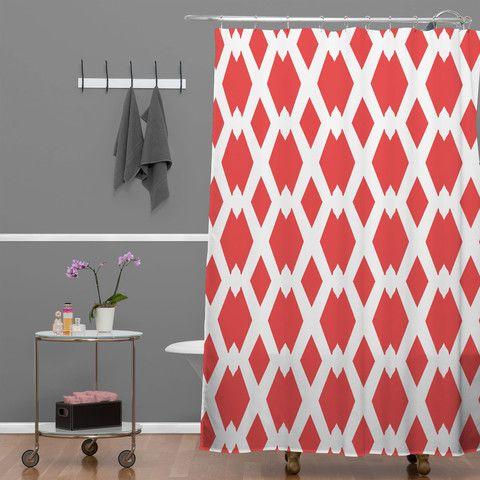 Top 25 best Coral shower curtains ideas on Pinterest Shower