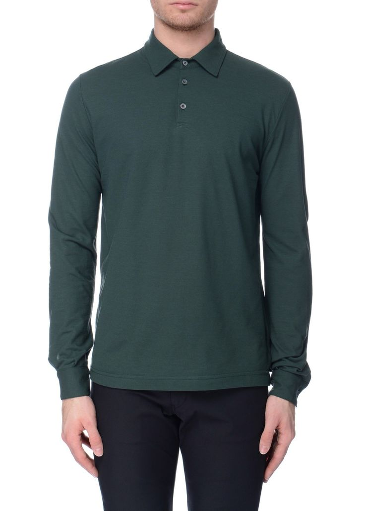 Zanone - SS17 - Menswear // Green polo shirt in cotton