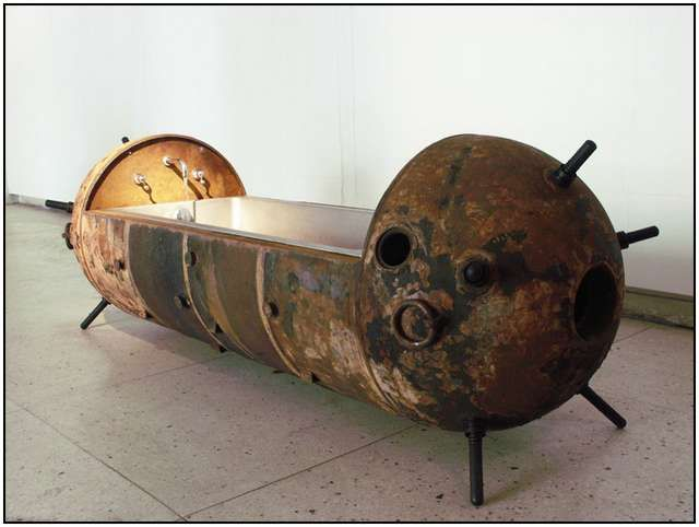 Estonian Artist Mati Karmin Creates Unique Furniture Out Of Recycled Naval  Mines That Were Used During World War II. I Totally Want A Land Mine  Bathtub!