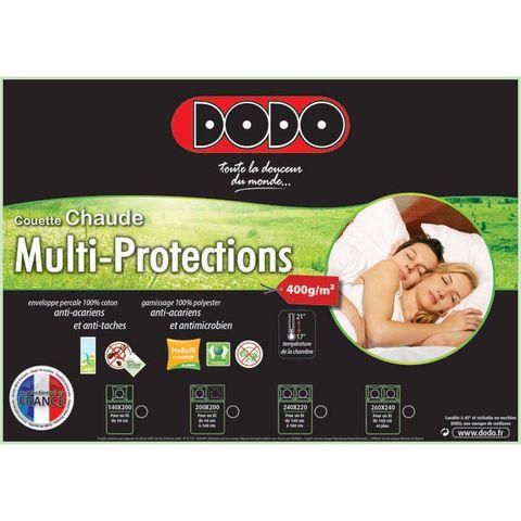 DODO Couette chaude MULTI-PROTECTIONS anti-acariens <100 euro