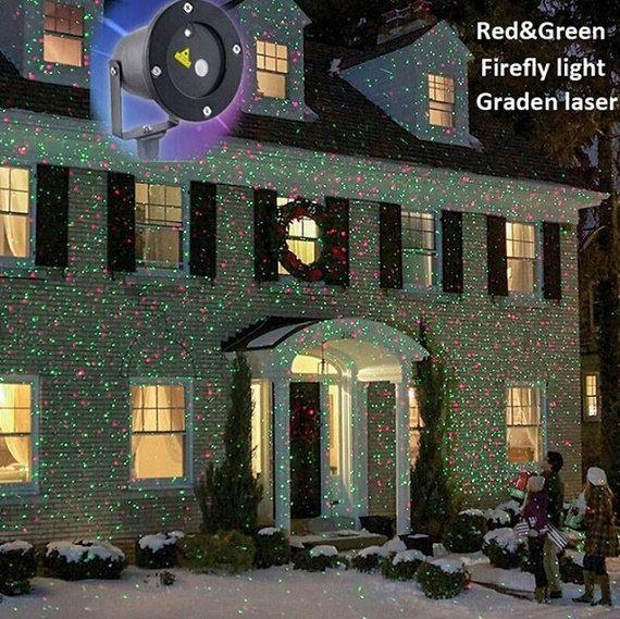 Laser étoile projecteur 100  240 V rouge door Mamarrainelabonnefee