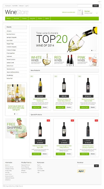 10 best responsive ecommerce designs images on pinterest for Magento community templates