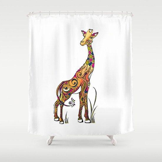 Best Giraffe Shower Curtain Designs   Funny U0026 Adorable