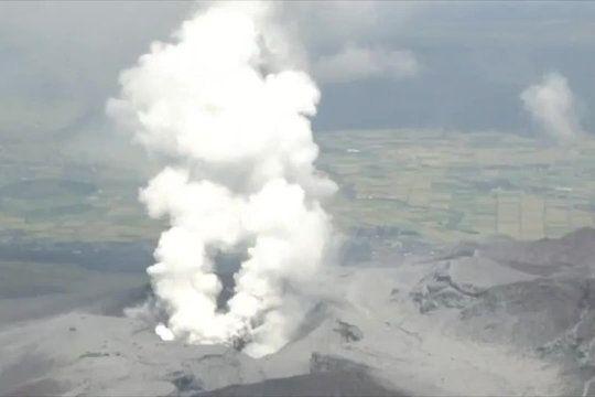 Mont Aso: lavidéo del'éruption duvolcan auJapon