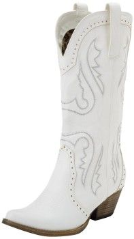 White cowboy boots for women. Womens, boots, heels, fashion, 2013